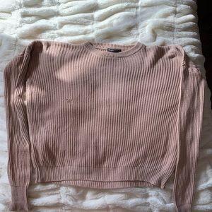 Brandy Melville Creme color crew neck sweater